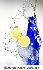 Lemon with spray water