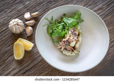 lemon squid with garlic