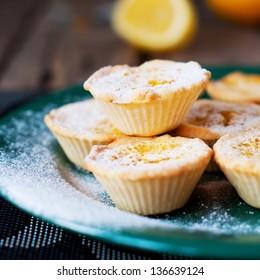 Lemon Tartlets with Powdered sugar