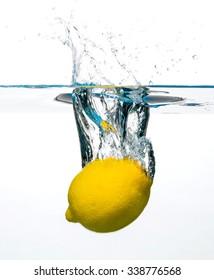 Lemon Thrown Into Water