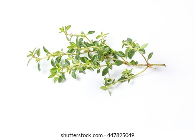 Lemon Thyme Herb fragrant seasoning on white background