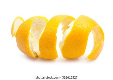 Lemon twist on white background.