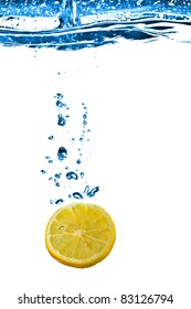 Lemon In Water Splash