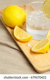Lemonade in glass isolated on white background