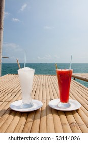 lemonade and water malon drink in the sea.