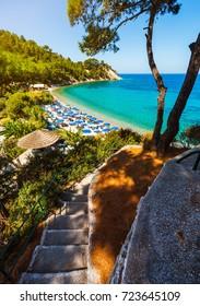 Lemonakia beach on Samos island in Greece