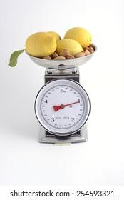 lemons and almonds on balance