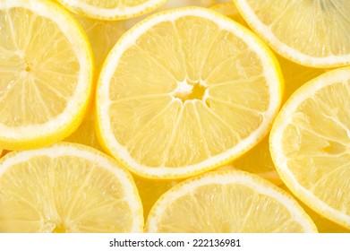 Lemons background.