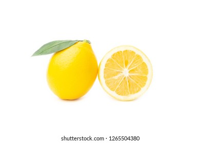 Lemons isolated on the white background.