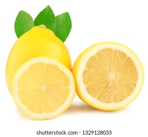 Lemons isolated on white background.