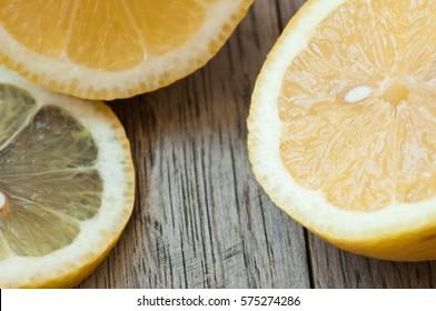 Lemons ready cut for making a cool summer drink of lemonade