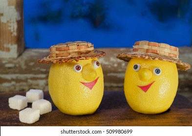 Lemons with sugar on the old window - Shutterstock ID 509980699