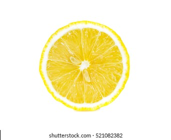Lemons  white background