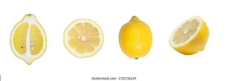 Lemons ( a whole lemon and some sliced lemons)