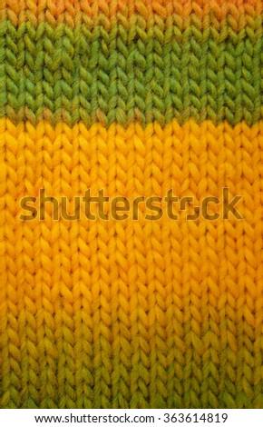 Length Stocking Stitch Knitting Green Yellow Stock Photo Edit Now