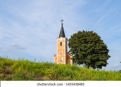 Lengyel-Chapel in the village of Hegymagas, situated on Saint George Hill near Lake Balaton, Hungary