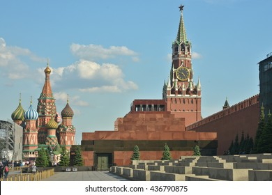 The Lenin mausoleum on red square in Moscow.