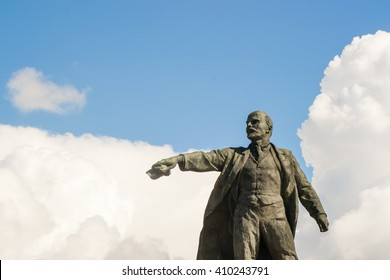 lenin monument soviet square russia statue russian
