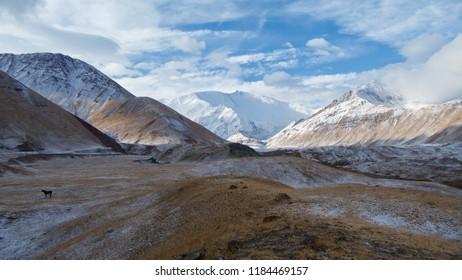 Lenin Peak Base Camp in the Alay Valley of Kyrgyzstan