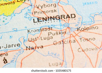Leningrad - Saint Petersburg on world map