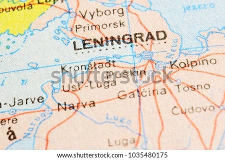 Leningrad Saint Petersburg On World Map Stock Photo Edit Now