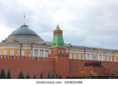 Lenin's Mausoleum (Lenin's Tomb) resting place of Soviet leader Vladimir Lenin on Red Square in Moscow, Russia