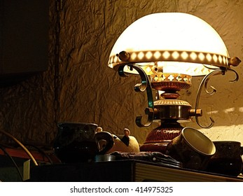 Lenin's old lamp on a coffee table