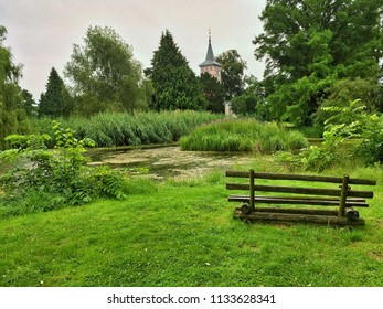 Lenne Park in Criewen, Schwedt Oder city district in Germany