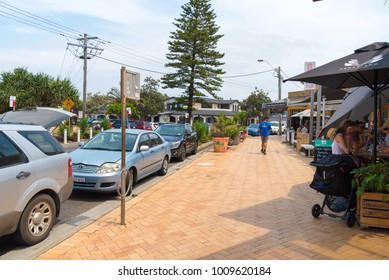Lennox Head, NSW, Australia- December 20, 2017 : Street view at Lennox Head, one of the most popular surfing destinations in New South Wales, Australia.