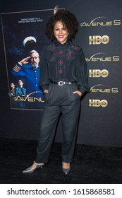 """Lenora Crichlow attends HBO's """"Avenue 5"""" Los Angeles Premiere at Avalon Hollywood, Los Angeles, CA on January 14th, 2020"""