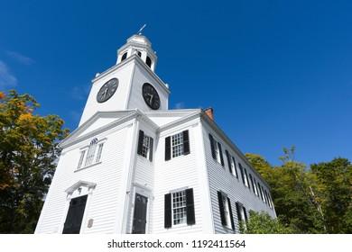 Lenox, Massachusetts/USA - Sept. 29, 2018: The Church on the Hill on a sunny day in late September.