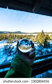 Lens ball and awesome view in winter