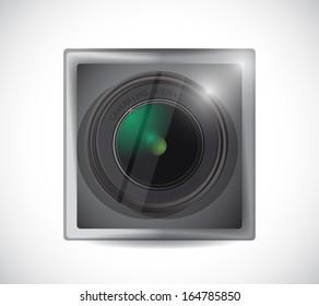 lens camera app button illustration design over white