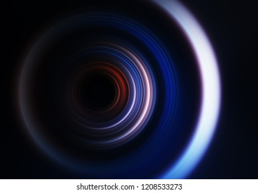 Lens in detail abstract background