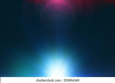 Lens flare dark background