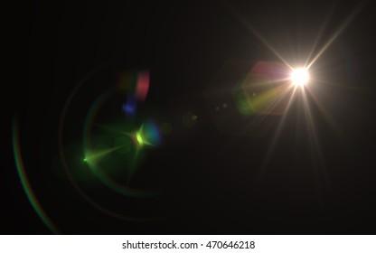 Lens Flare sun light green red