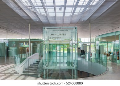 LENS, FRANCE - MAY 20: Interior of the Louvre-Lens in Lens, France on May 20, 2016. The Louvre-Lens is an art museum located in Lens, Pas-de-Calais, Northern France.