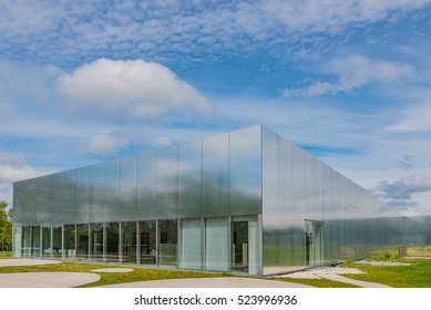 LENS, FRANCE - MAY 20: Louvre-Lens in Lens, France on May 20, 2016. The Louvre-Lens is an art museum located in Lens, Pas-de-Calais, Northern France.