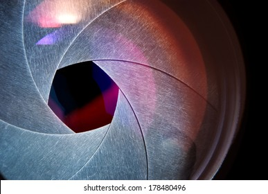 lens of the photo objective