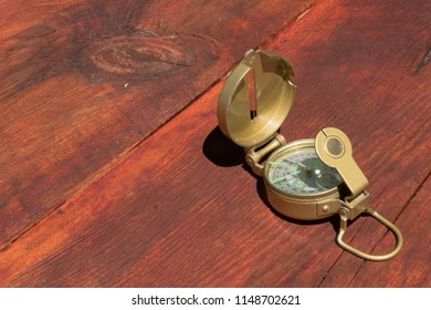 A Lensatic compass was often used to navigate the trails and byways in the past.