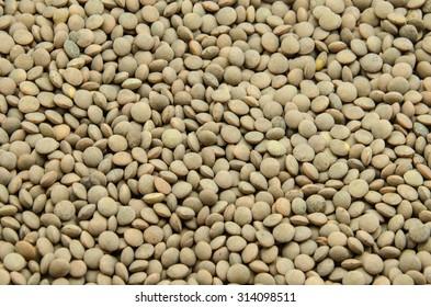 Lentil beans background