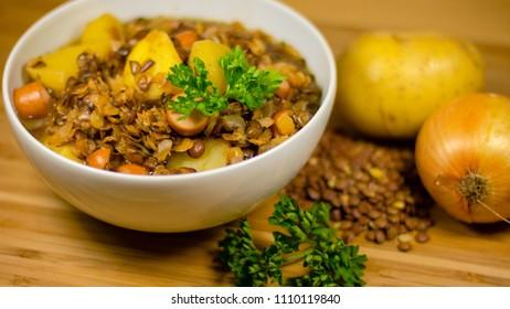Lentil stew bowl