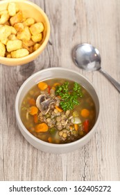 Lentil Stoup with Mushrooms