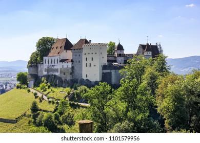 Lenzburg castle, built in the 11 century, in Canton Aargau, Switzerland