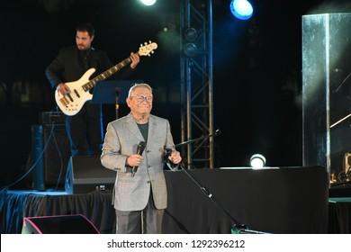 Leon, Mexico. Jan 20, 2019: Grammy Awarded Armando Manzanero's concert for 443th anniversary of Leon's foundation during Feria De Leon 2019 into Foro Del Lago.