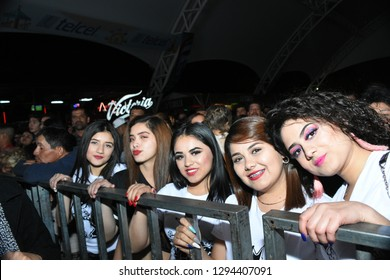 Leon, Mexico. Jan 20, 2019: Kumbia Kings' Fan Club at their concert for 443th anniversary of Leon's foundation during Feria de Leon 2019
