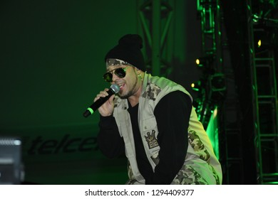 Leon, Mexico. Jan 20, 2019: Dj Kane at Kumbia Kings Concert for 443th anniversary of Leon's foundation during Feria de Leon 2019