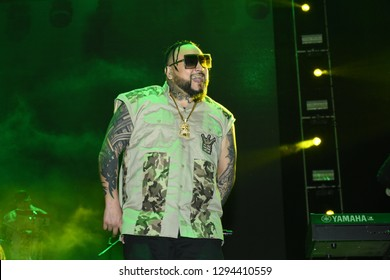 Leon, Mexico. Jan 20, 2019: AB Quintanilla III at Kumbia Kings Concert for 443th anniversary of Leon's foundation during Feria de Leon 2019