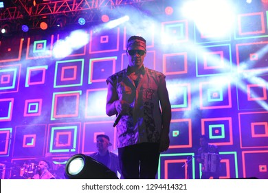 Leon, Mexico. Jan 20, 2019: Kumbia Kings Concert by 443th anniversary of Leon's foundation during Feria de Leon 2019