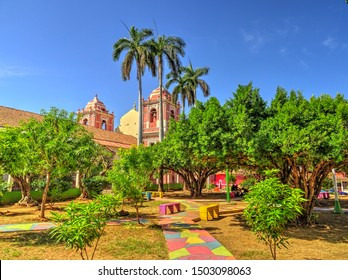 Leon, Nicaragua, Historical center in sunny weather, HDR image